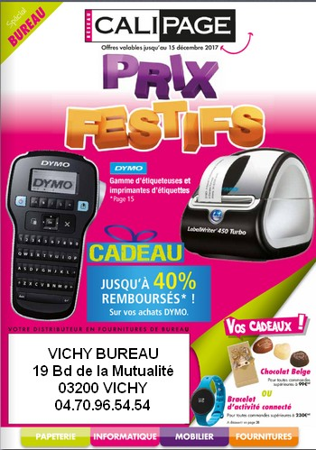 PROMOTIONS FOURNITURE DE BUREAU - CALIPAGE VICHY