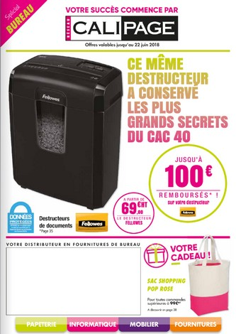 PROMOTIONS - FOURNITURES DE BUREAU - CALIPAGE VICHY